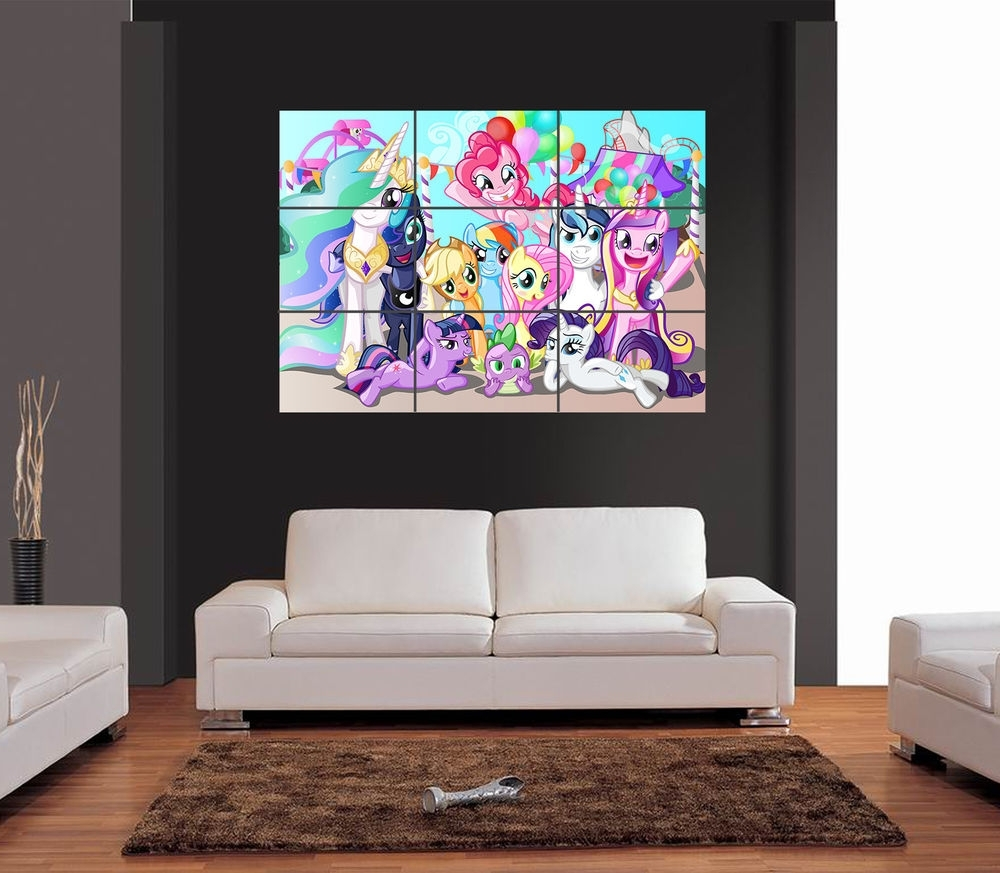 My Little Pony Giant Wall Art Print Picture Poster | Ebay Regarding Most Up To Date My Little Pony Wall Art (View 13 of 20)