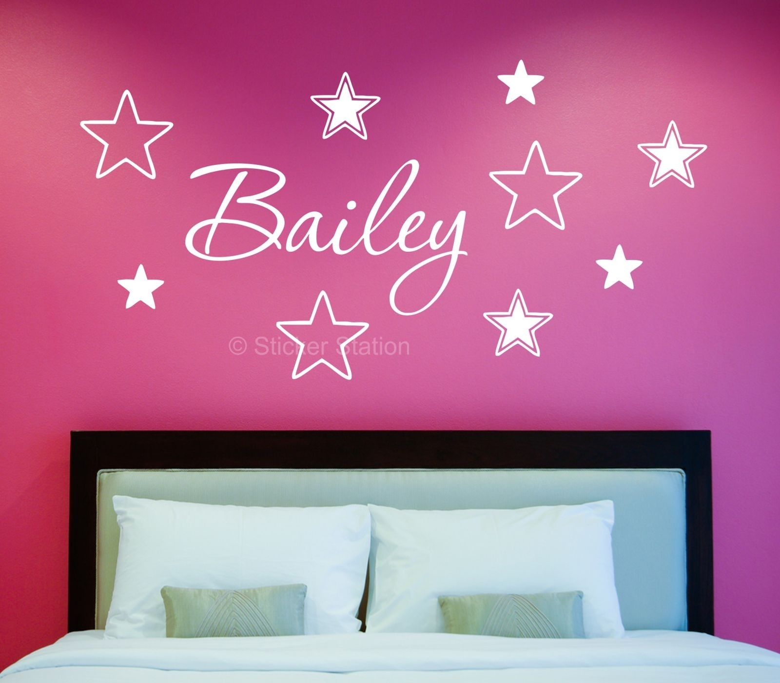 Name In Stars Personalised Wall Art Sticker – Sticker Station Within Most Recently Released Name Wall Art (View 12 of 20)