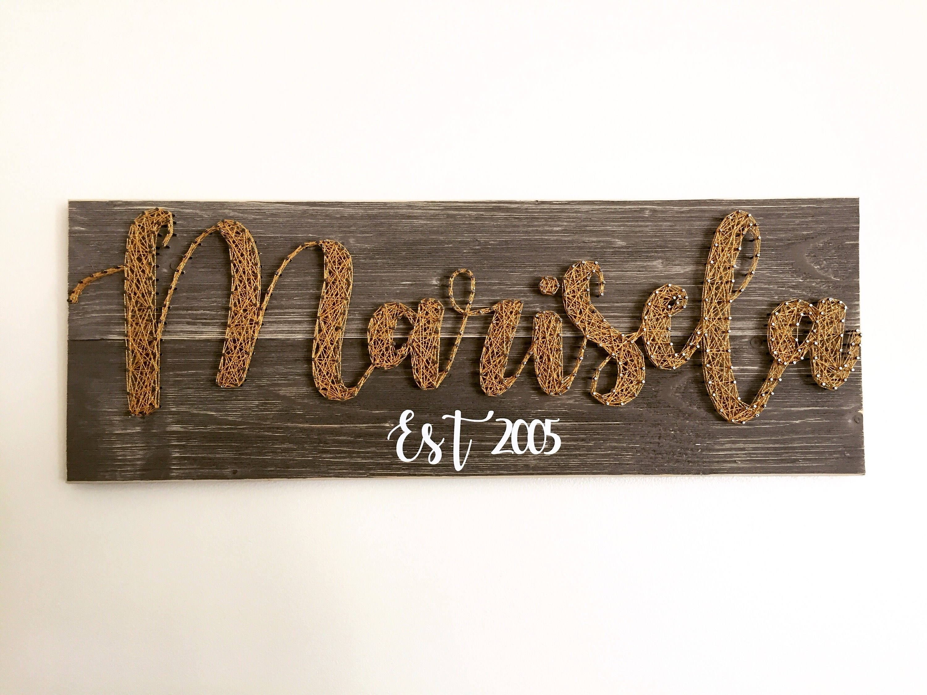 Name Sign – Kids Room Decor – String Art Sign – Teen Room Decor Pertaining To 2017 Personalized Wood Wall Art (View 14 of 20)