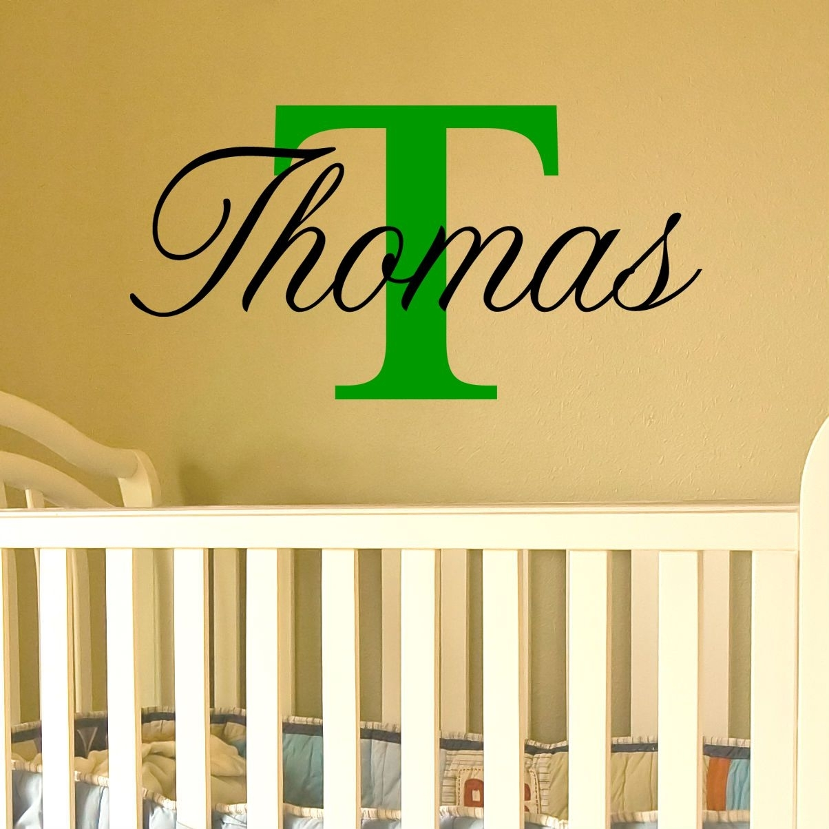 Name Wall Art With Capital Letter (Available For A Boy Or Girl) pertaining to Most Up-to-Date Name Wall Art
