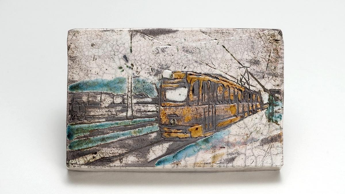 Naomipeli | Budapest Series 1 – Raku Ceramic Wall Art For Most Popular Ceramic Wall Art (Gallery 6 of 20)