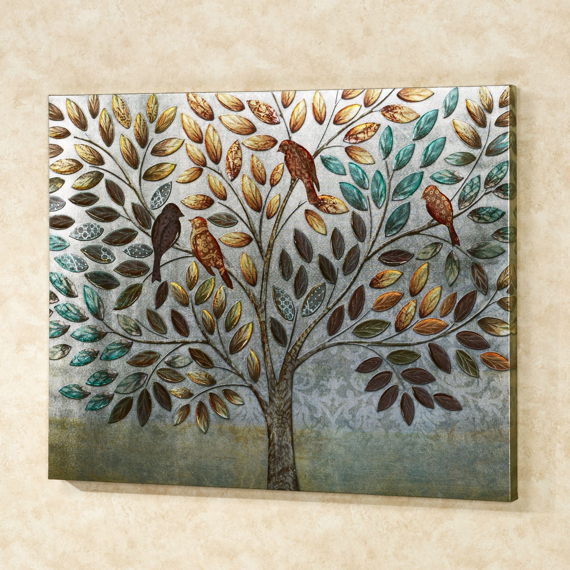 Natures Splendor Birds In Tree Canvas Wall Art With 2017 Touch Of Class Wall Art (View 10 of 20)