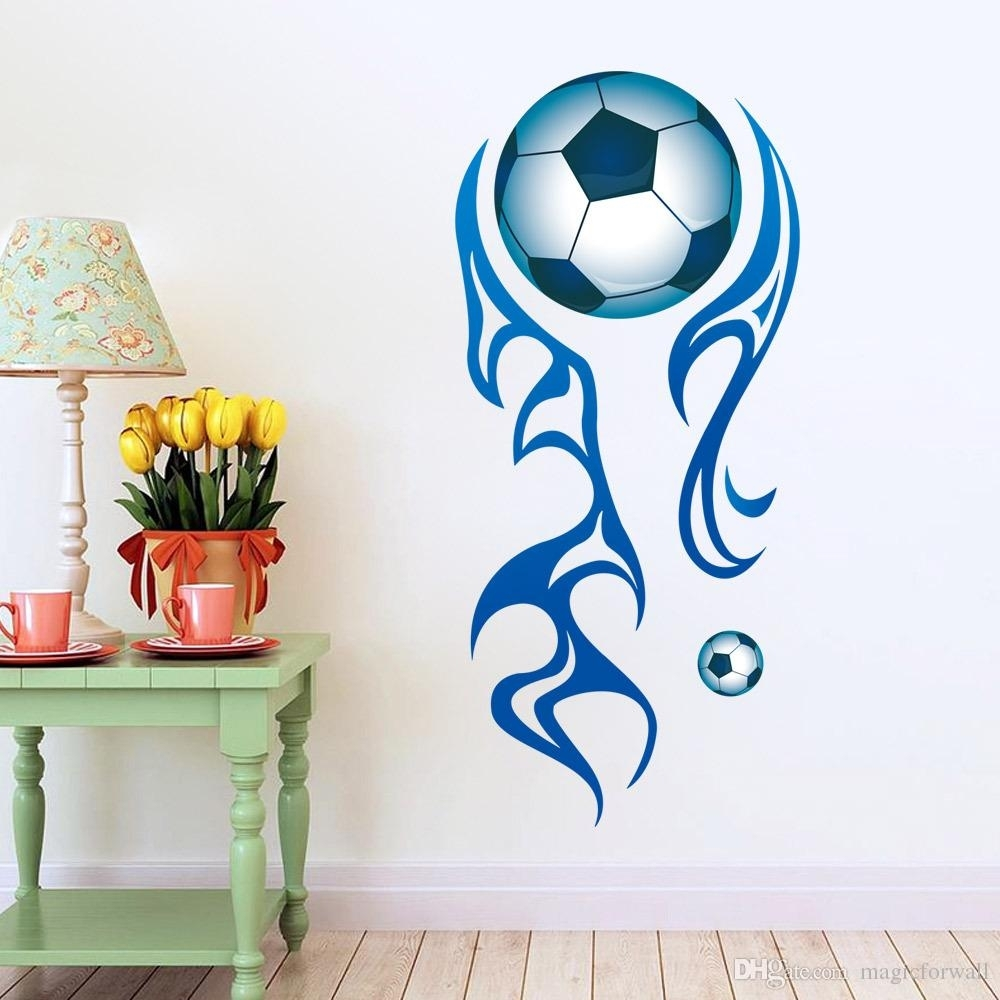 New Arrival Football Wall Stickers For Sports Kids Room Removable With Recent Sports Wall Art (View 9 of 20)