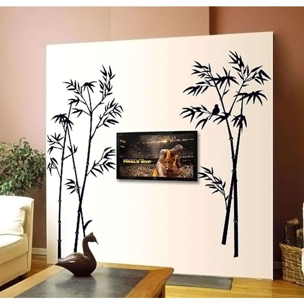 New Bamboo Mural Removable Craft Art Black Wall Sticker Decals Home inside Most Recently Released Bamboo Wall Art