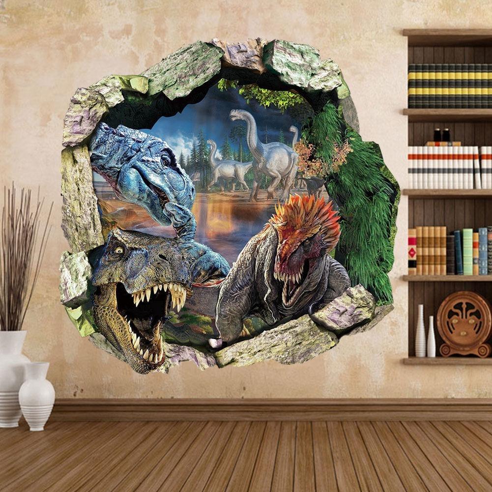 New Big Jurassic Park Dinosaur Wall Sticker Vinyl Decal Mural Art Throughout 2018 Dinosaur Wall Art (View 8 of 20)