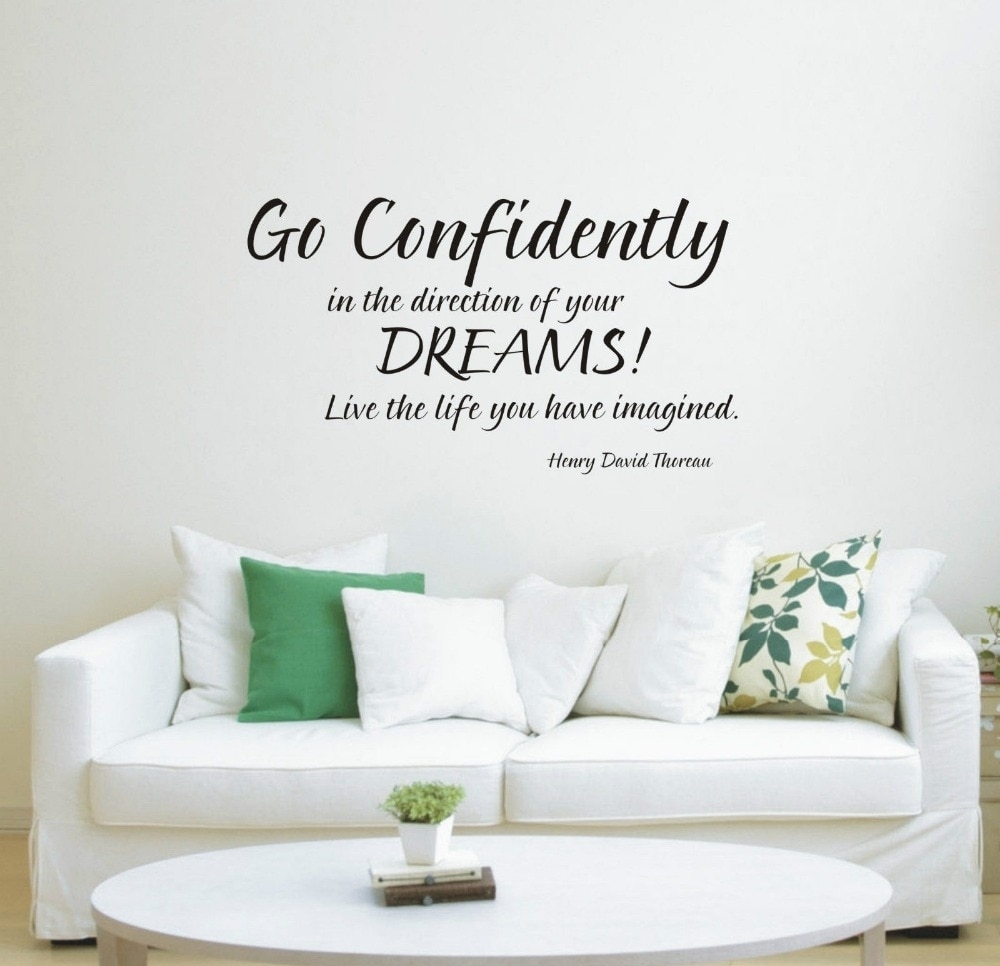 New Go Confidently In The Direction Of Your Dream Wall Art Sticker In Newest Wall Art Stickers (View 9 of 15)