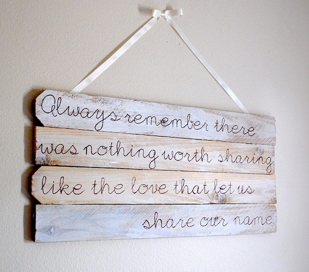 New Wood Wall Art Quotes | About My Blog Intended For 2018 Wood Wall Art Quotes (View 9 of 20)