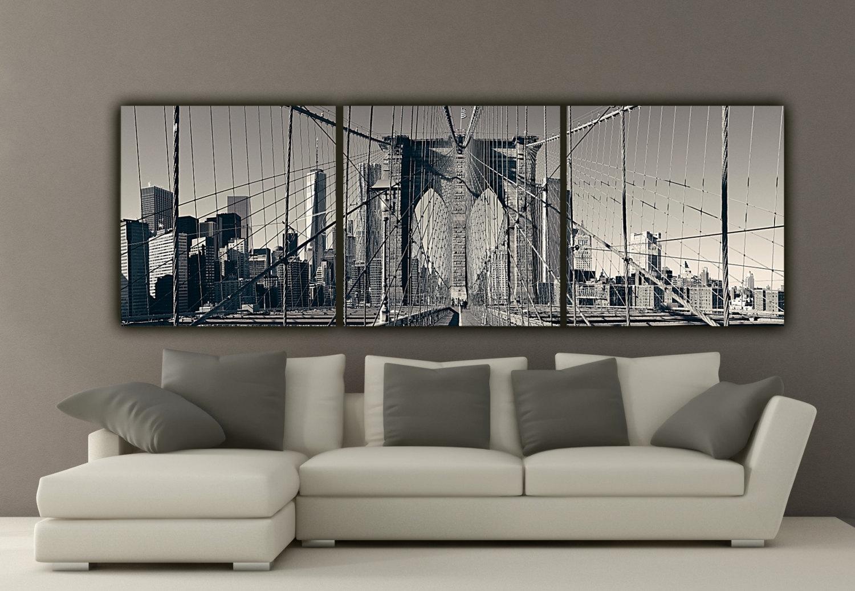 New York Brooklyn Bridge Canvas Nice Wall Art New York City – Wall In Most Popular Nyc Wall Art (View 8 of 20)