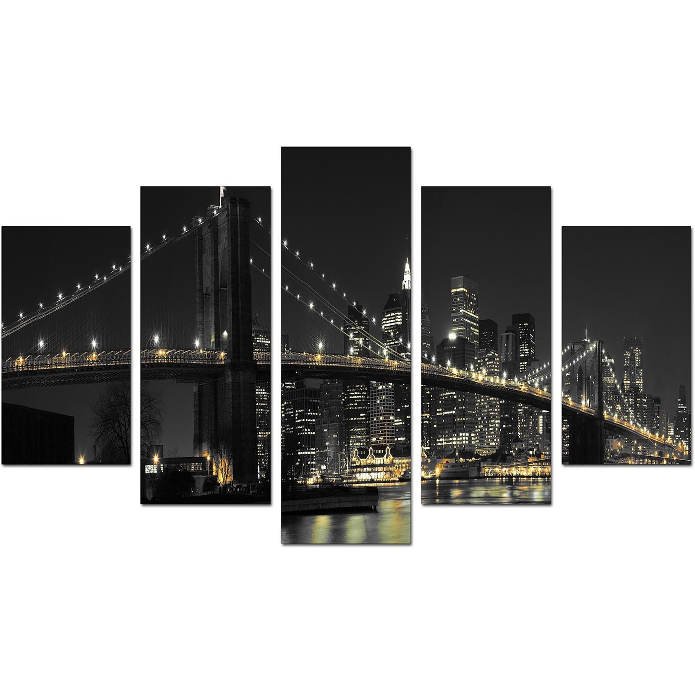 New York Canvas Wall Art For Your Living Room – Set Of Five Throughout Most Recent Nyc Wall Art (View 10 of 20)