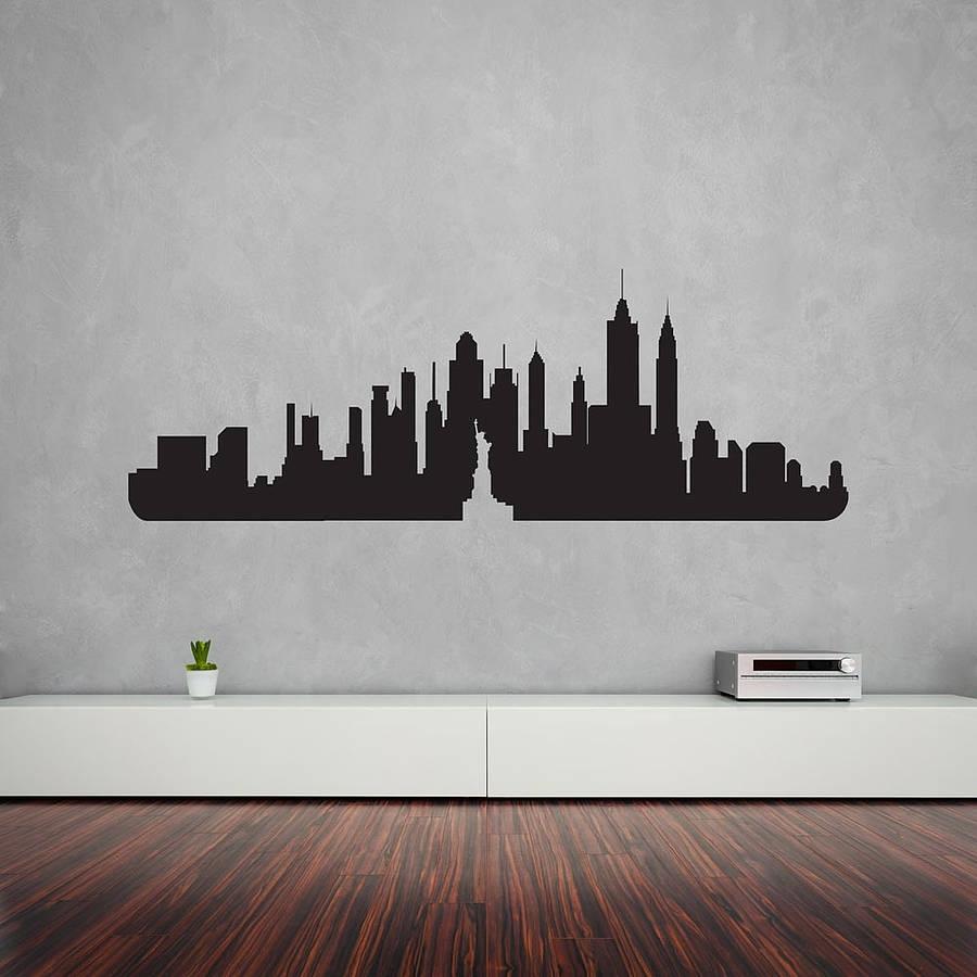 New York City Skyline Wall Art Decalvinyl Revolution In Recent New York Wall Art (View 11 of 20)