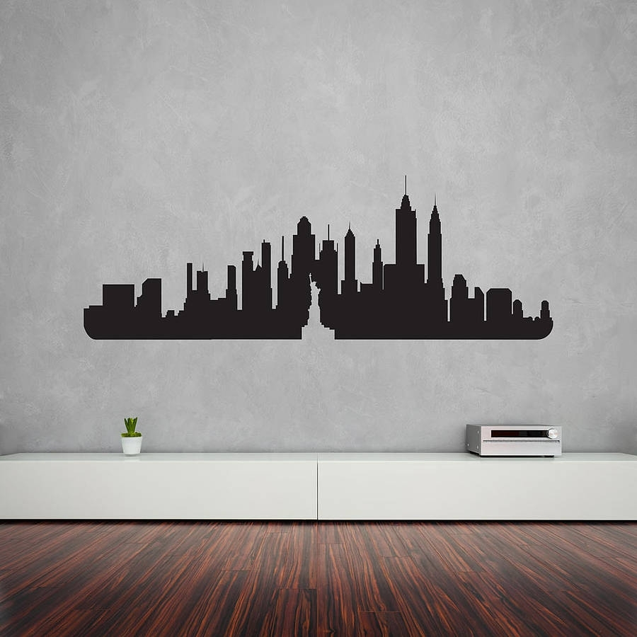 New York City Skyline Wall Art Decalvinyl Revolution Pertaining To Most Popular Vinyl Wall Art (View 8 of 15)
