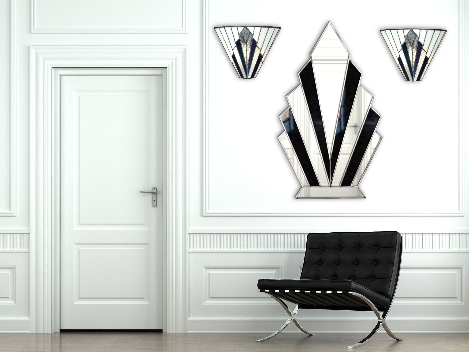 Nice Art Deco Wall Mirror : Andrews Living Arts - Always Pretty Art in Most Up-to-Date Art Deco Wall Art