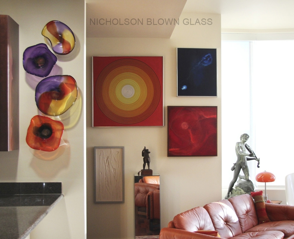 Nicholson Blown Glass Dichroic For Most Popular Blown Glass Wall Art (View 18 of 20)