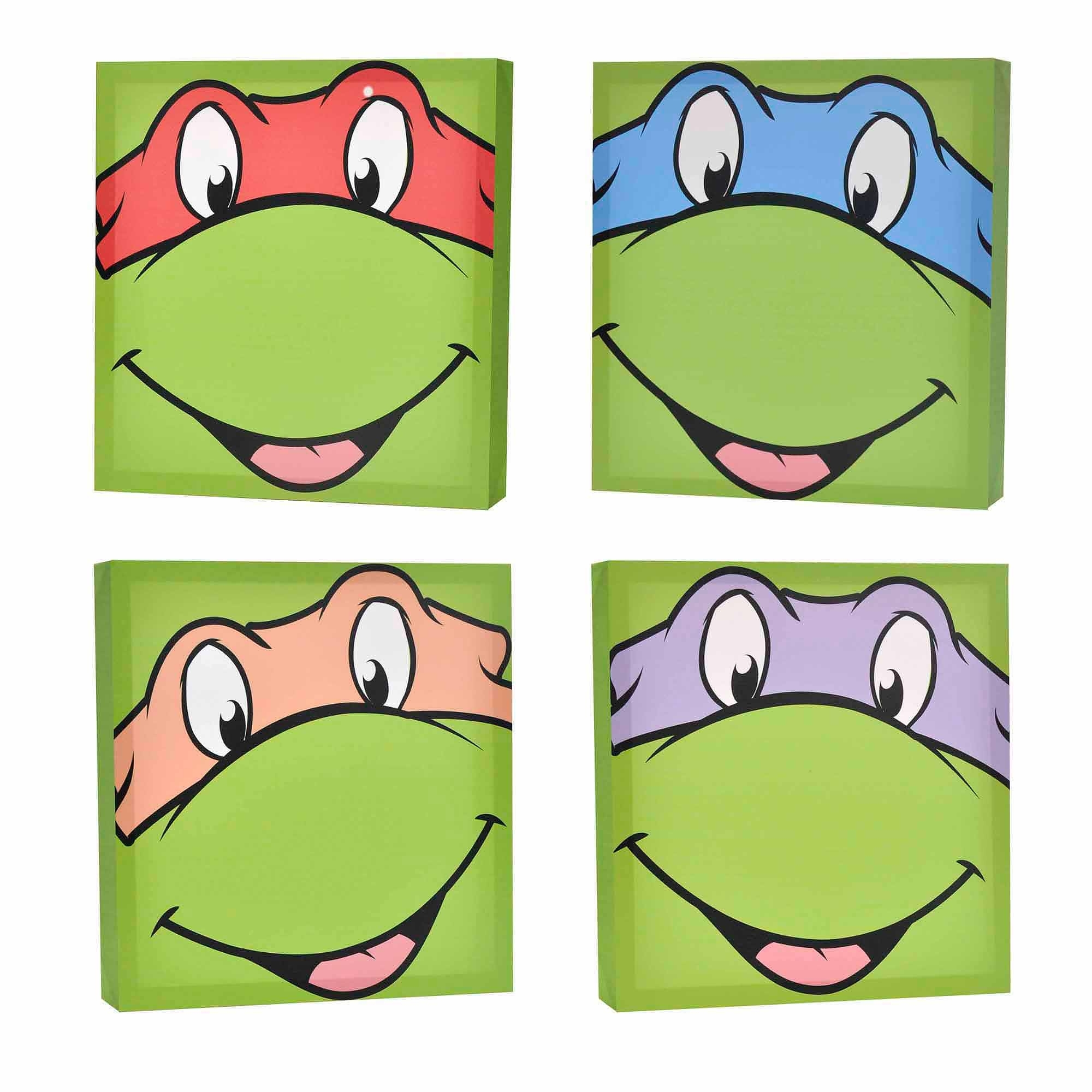 Nickelodeon Teenage Mutant Ninja Turtles 4 Pack Canvas Wall Art Regarding Most Popular Ninja Turtle Wall Art (View 11 of 20)