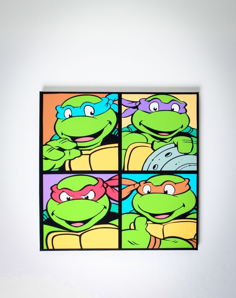 Ninja Turtles Canvas! $19.99 @spencers | One Day | Pinterest Throughout Most Current Ninja Turtle Wall Art (Gallery 4 of 20)