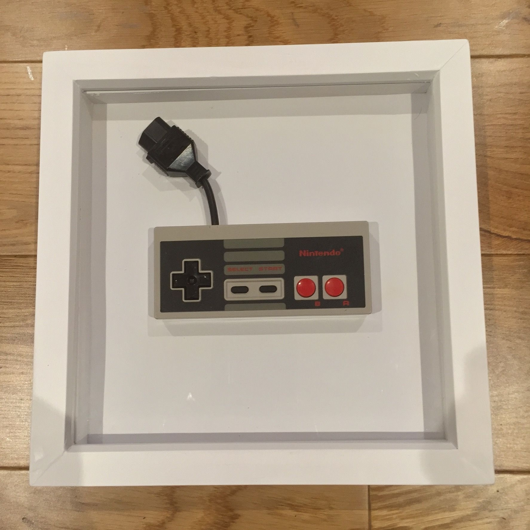Nintendo Nes Controller Frame (Cool Retro Wall Art) – Gift For Guys Regarding Best And Newest Nintendo Wall Art (View 10 of 20)
