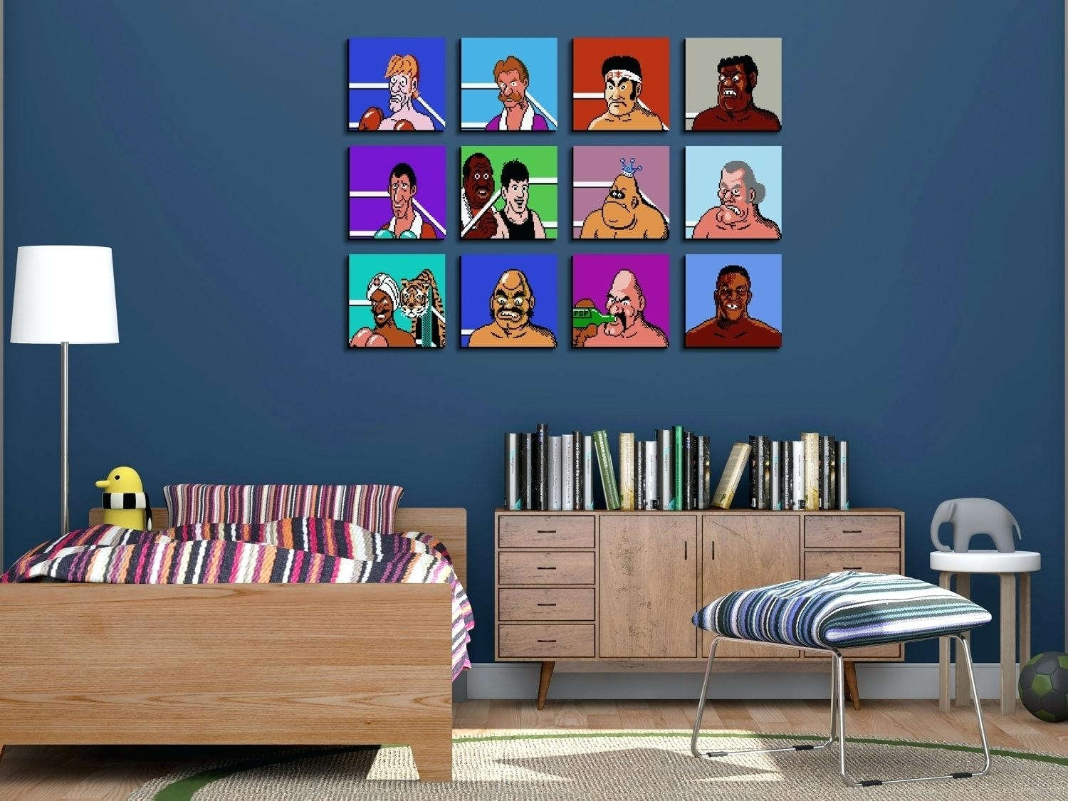Nintendo Wall Decal Unique Throwback Mike Punch Out Wall Art Zoom In Most Popular Nintendo Wall Art (View 13 of 20)