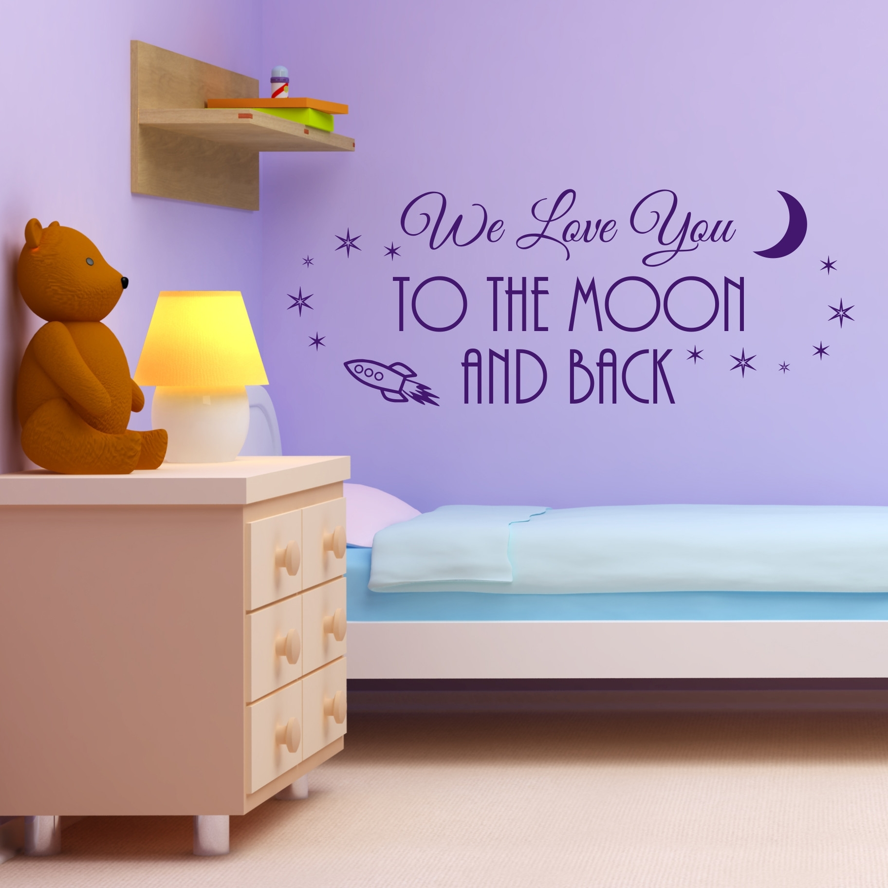 Nobby Design I Love You To The Moon And Back Wall Art – Ishlepark For Most Popular I Love You To The Moon And Back Wall Art (View 18 of 20)