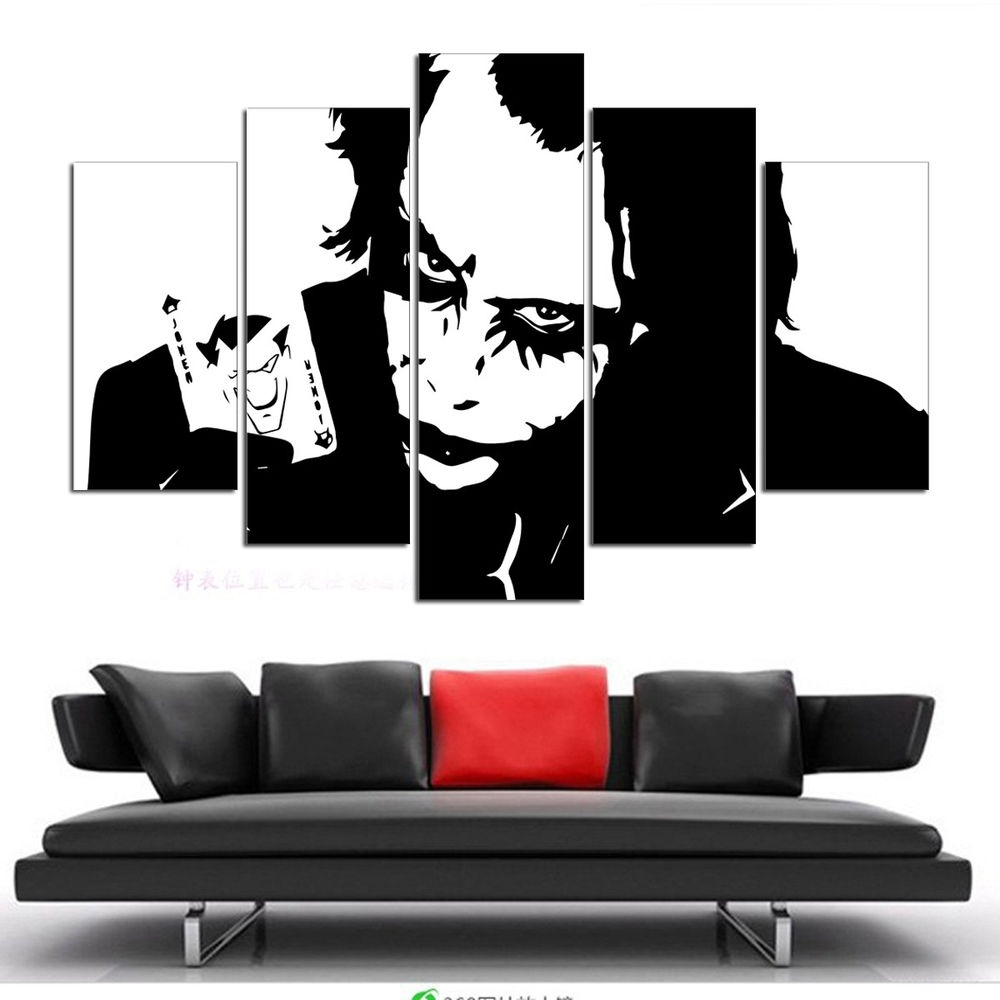 Not Framed Canvas Wall Art Pictures Prints Home Decor Batman Joker Regarding 2017 Joker Wall Art (View 10 of 20)
