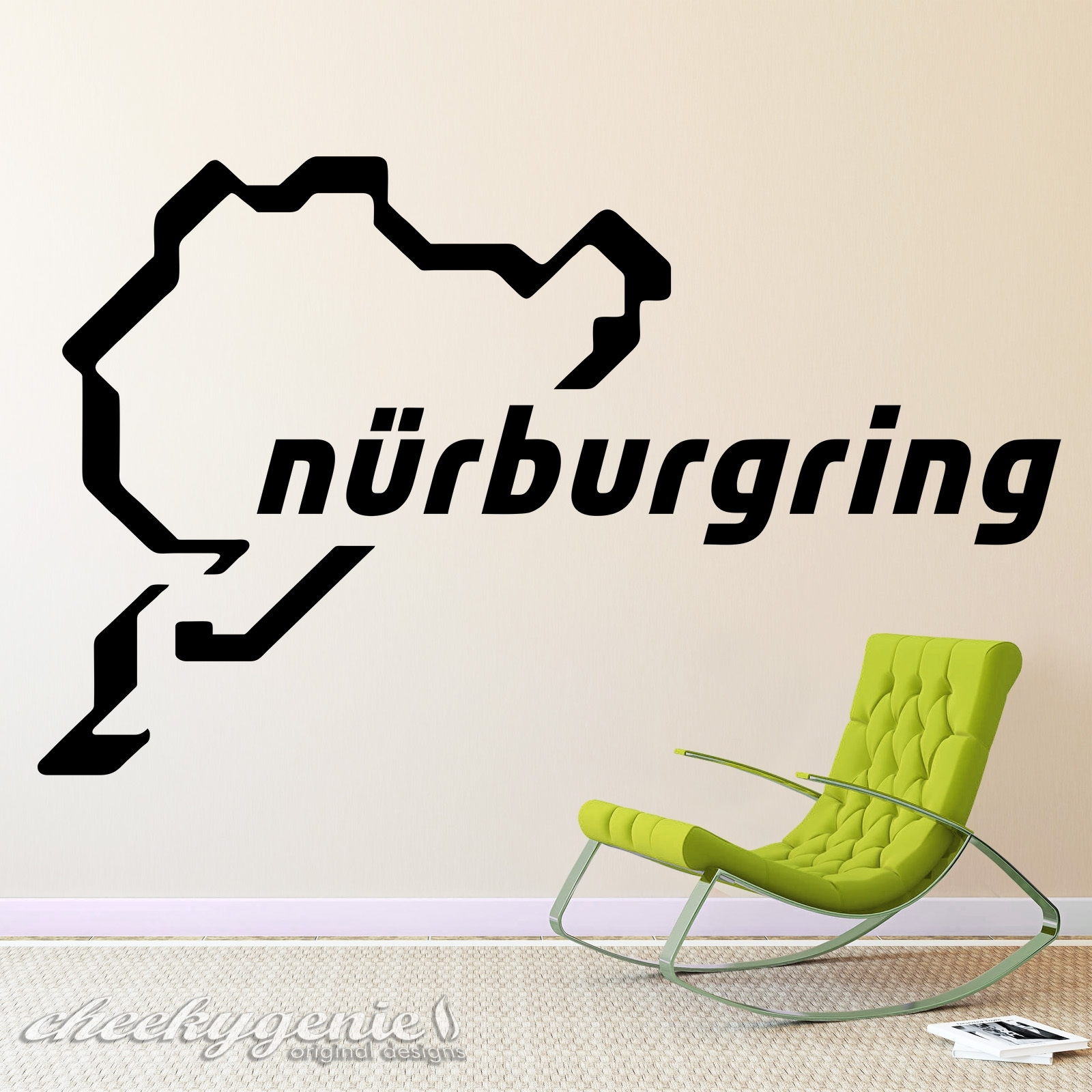Nurburgring Racing Track Day Circuit Car Vinyl Wall Art Sticker Regarding 2018 Race Track Wall Art (View 10 of 20)