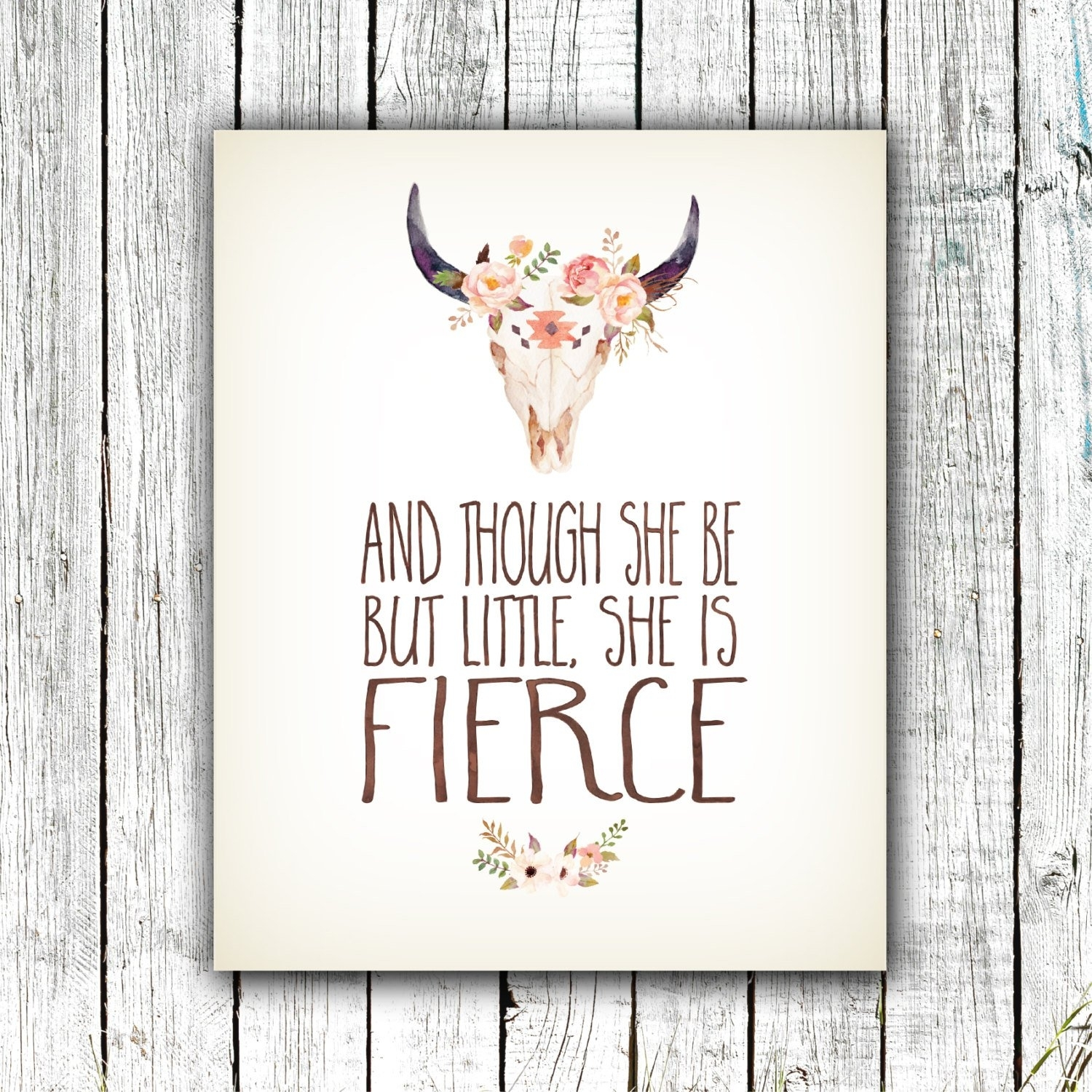 Nursery Art Printable, And Though She Be But Little She Is Fierce With Regard To Most Recently Released Though She Be But Little She Is Fierce Wall Art (View 11 of 20)