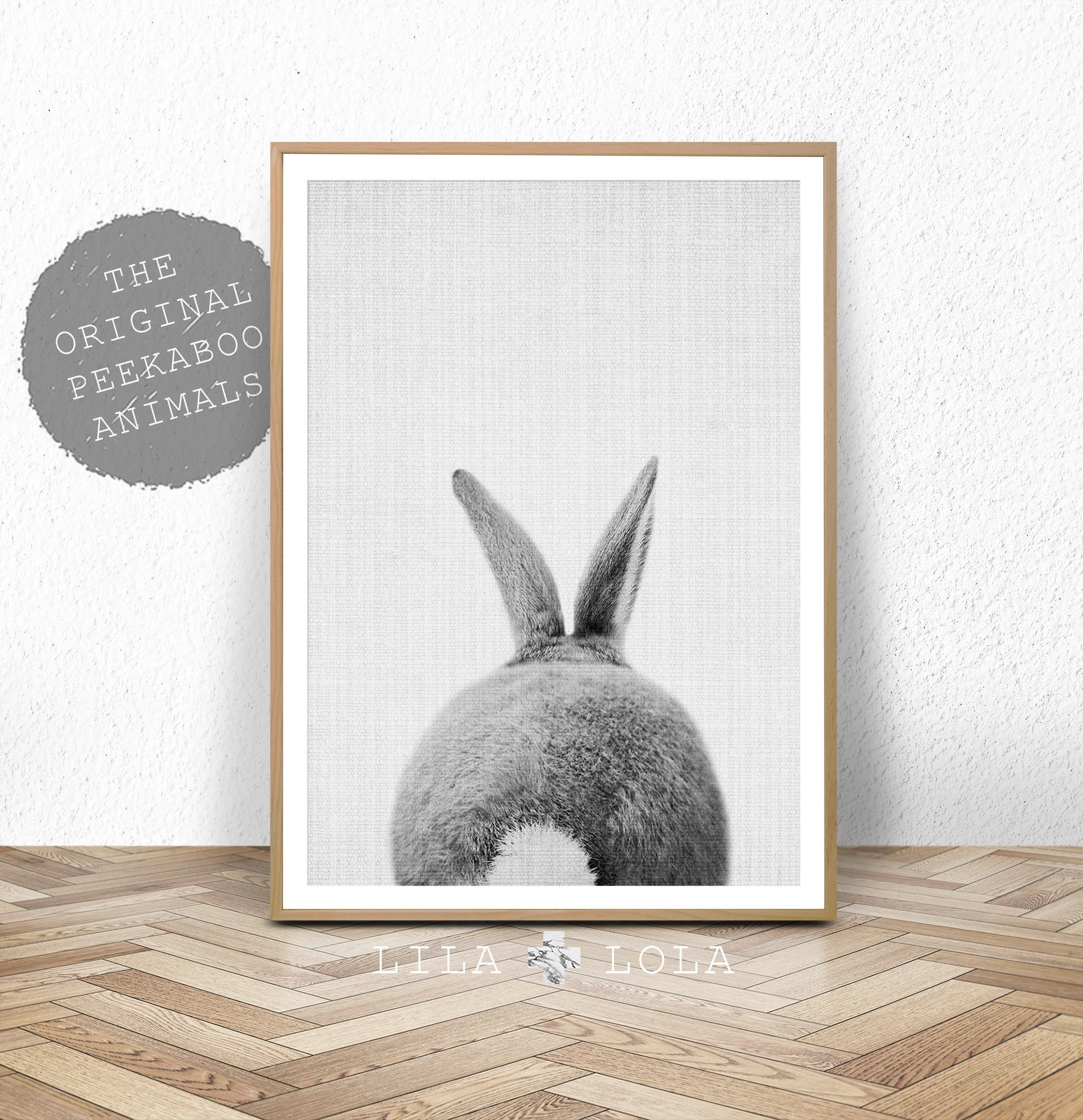 Nursery Print, Bunny Rabbit Tail Wall Art, Printable Instant Digital Within Most Up To Date Bunny Wall Art (View 15 of 20)