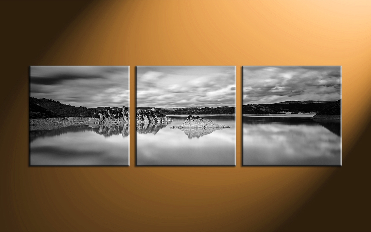 Ocean Black Panoramic Wall Art : Andrews Living Arts – Masculine Pertaining To Most Recent Ocean Wall Art (View 16 of 20)