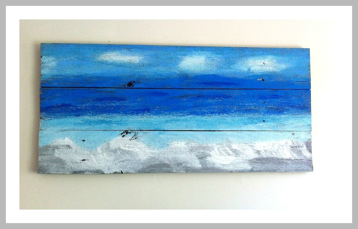 Ocean Wall Art From Recycled Wood – Mom In Music City For 2017 Ocean Wall Art (View 18 of 20)