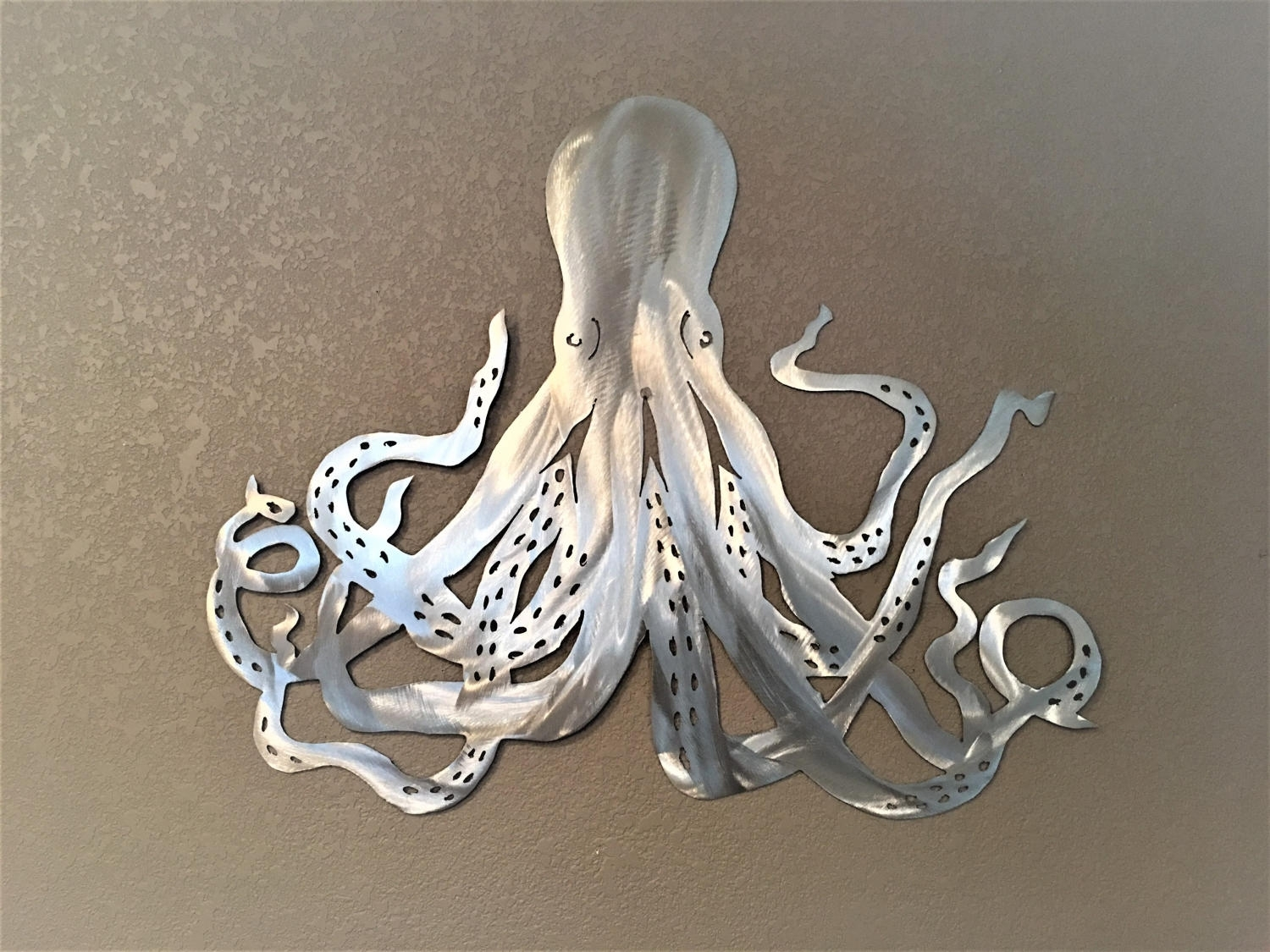 Octopus Metal Wall Art. Ocean Life, Saltwater Series. Octopus Intended For Best And Newest Octopus Wall Art (Gallery 7 of 20)