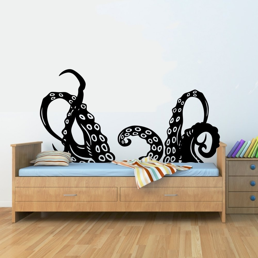 Octopus Wall Decal – Culturehoop For Current Octopus Wall Art (View 17 of 20)