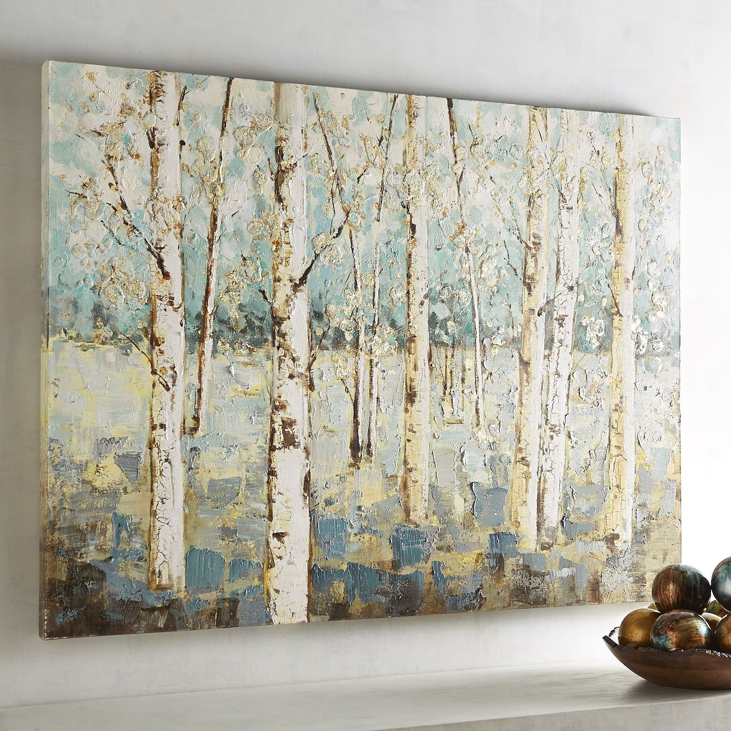Of Blue Birch Tree Art Design Of Birch Tree Wall Art | Wall Art For Current Birch Tree Wall Art (View 12 of 20)
