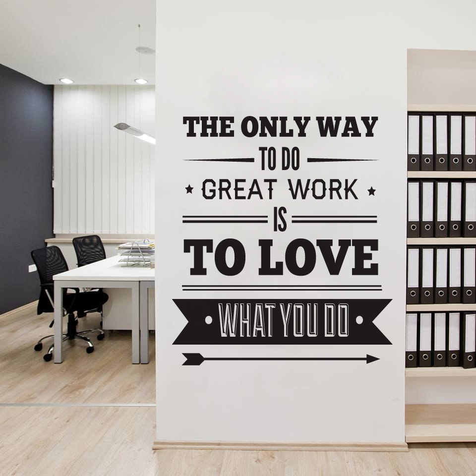 Office Decor Typography Inspirational Quote Wall Decoration Art With Regard To Most Current Inspirational Quotes Wall Art (Gallery 13 of 20)