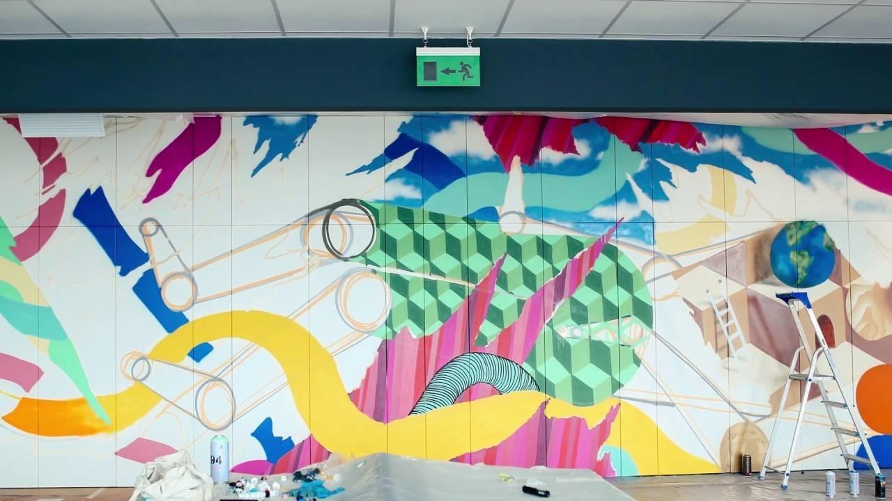 Office Wall Art Graffiti – Youtube For 2017 Graffiti Wall Art (View 16 of 20)