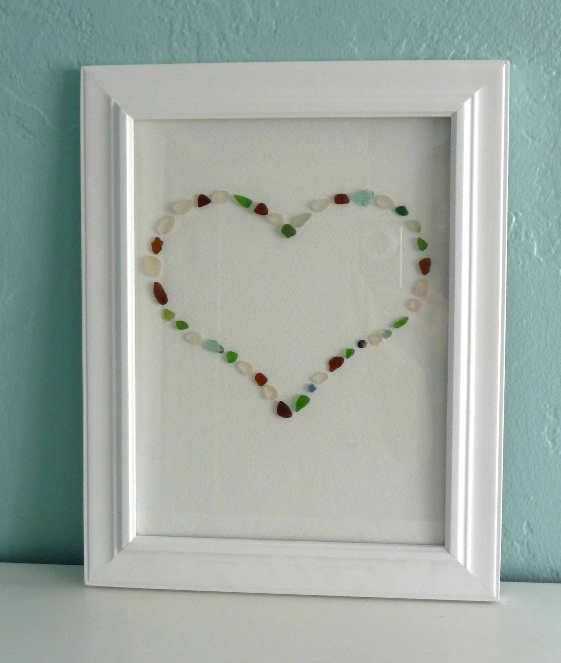 One Pretty Thing Diy Craft Tutorials, Sea Glass Wall Art – Swinki Regarding Most Current Sea Glass Wall Art (Gallery 6 of 15)