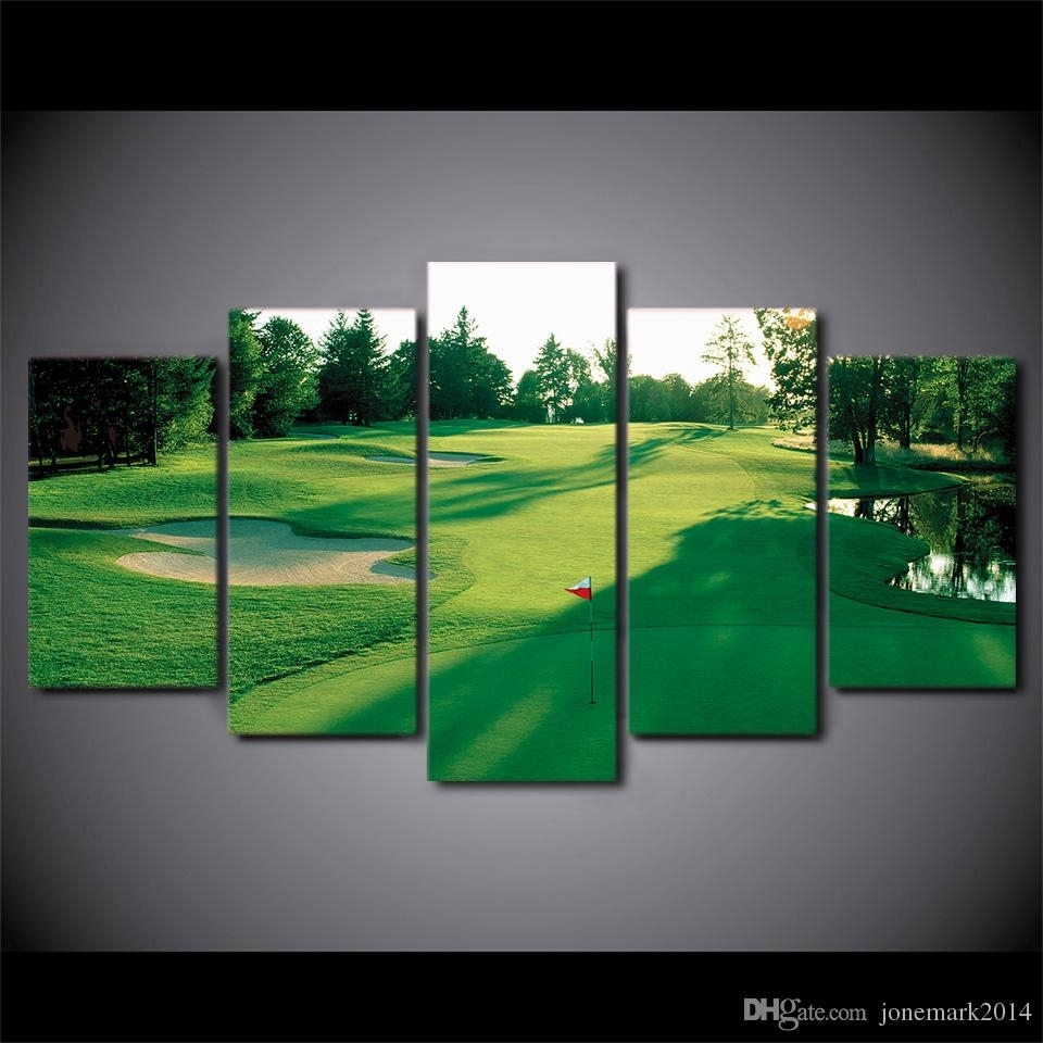 Online Cheap Canvas Art Hd Printed Golf Course Green Land Wall Inside Best And Newest Golf Canvas Wall Art (View 20 of 20)