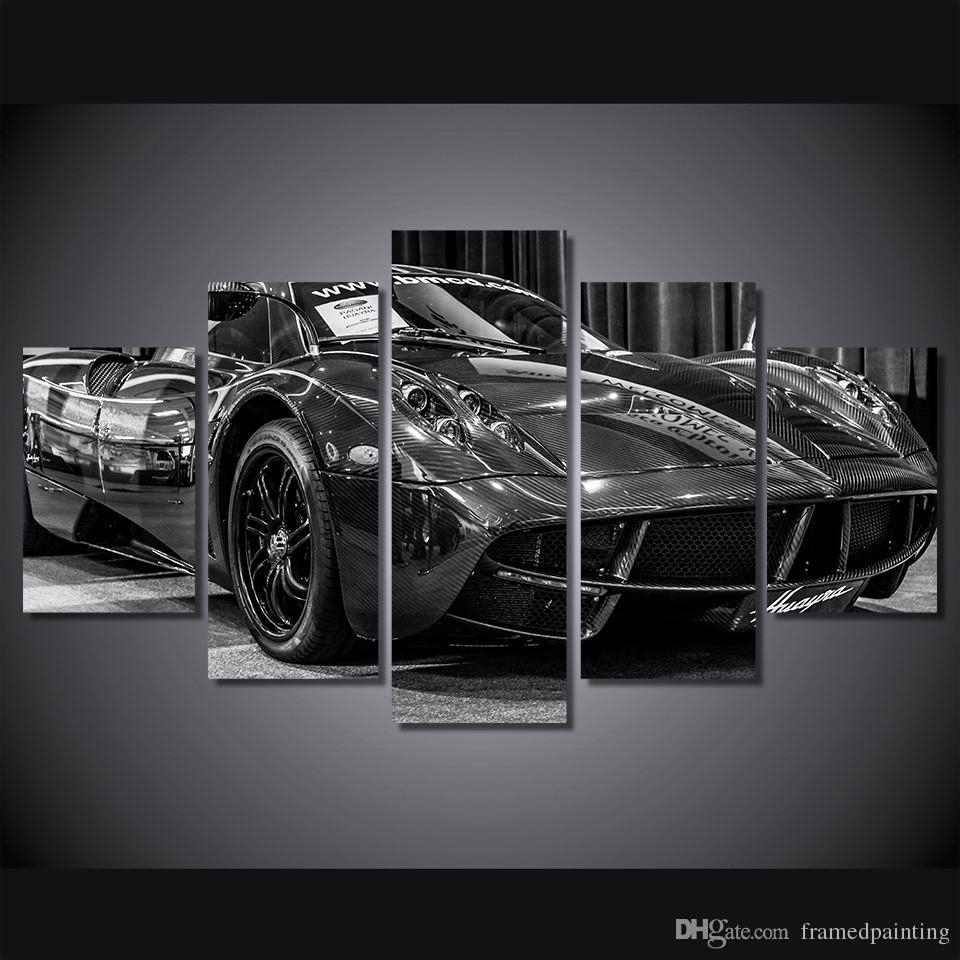 Online Cheap Framed Hd Printed Black Luxury Sports Car Picture Wall In Recent Car Canvas Wall Art (View 14 of 20)
