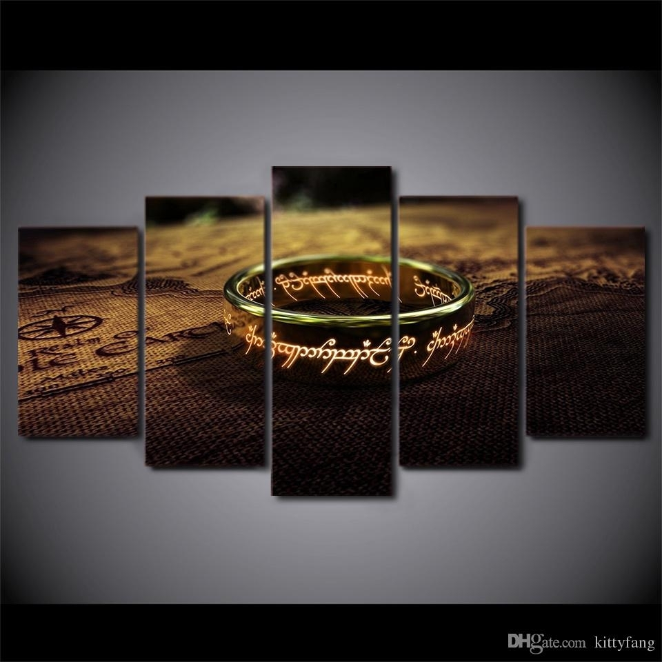 Online Cheap Hd Printed Canvas Art Lord Of The Rings Painting Wall inside Latest Lord Of The Rings Wall Art