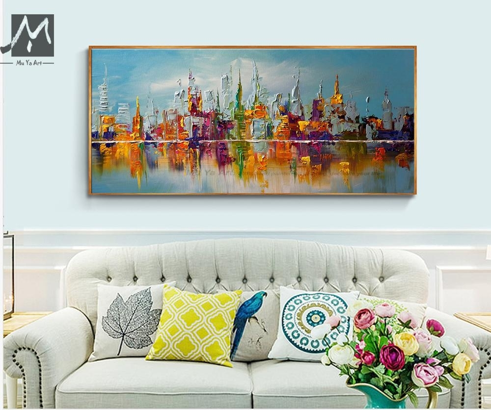 Online Cheap Large Canvas Wall Art Abstract Modern Decorative Regarding Most Recently Released Cheap Large Wall Art (View 18 of 20)