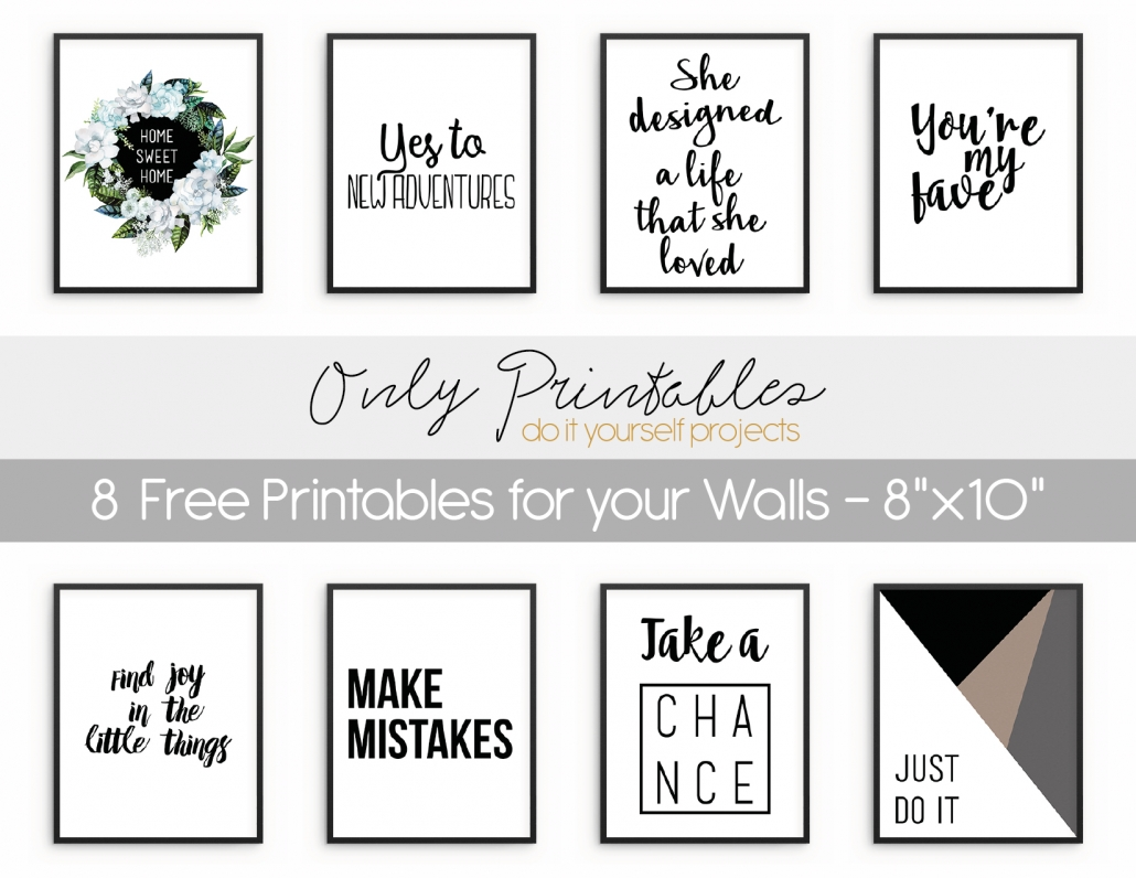 Only Printables | Wall Art With Most Up To Date Printable Wall Art (View 9 of 20)