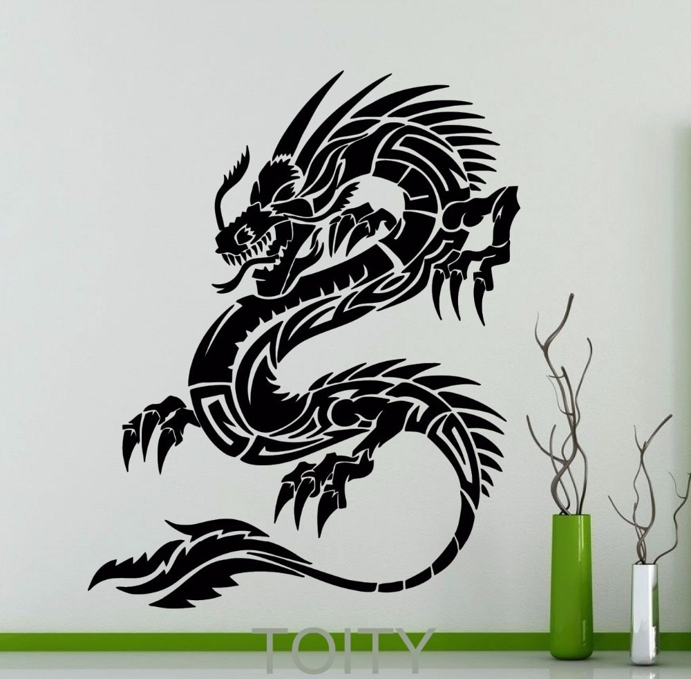 Orient Dragon Wall Sticker Mythology Vinyl Decal Chinese Style Long For Recent Dragon Wall Art (View 15 of 20)