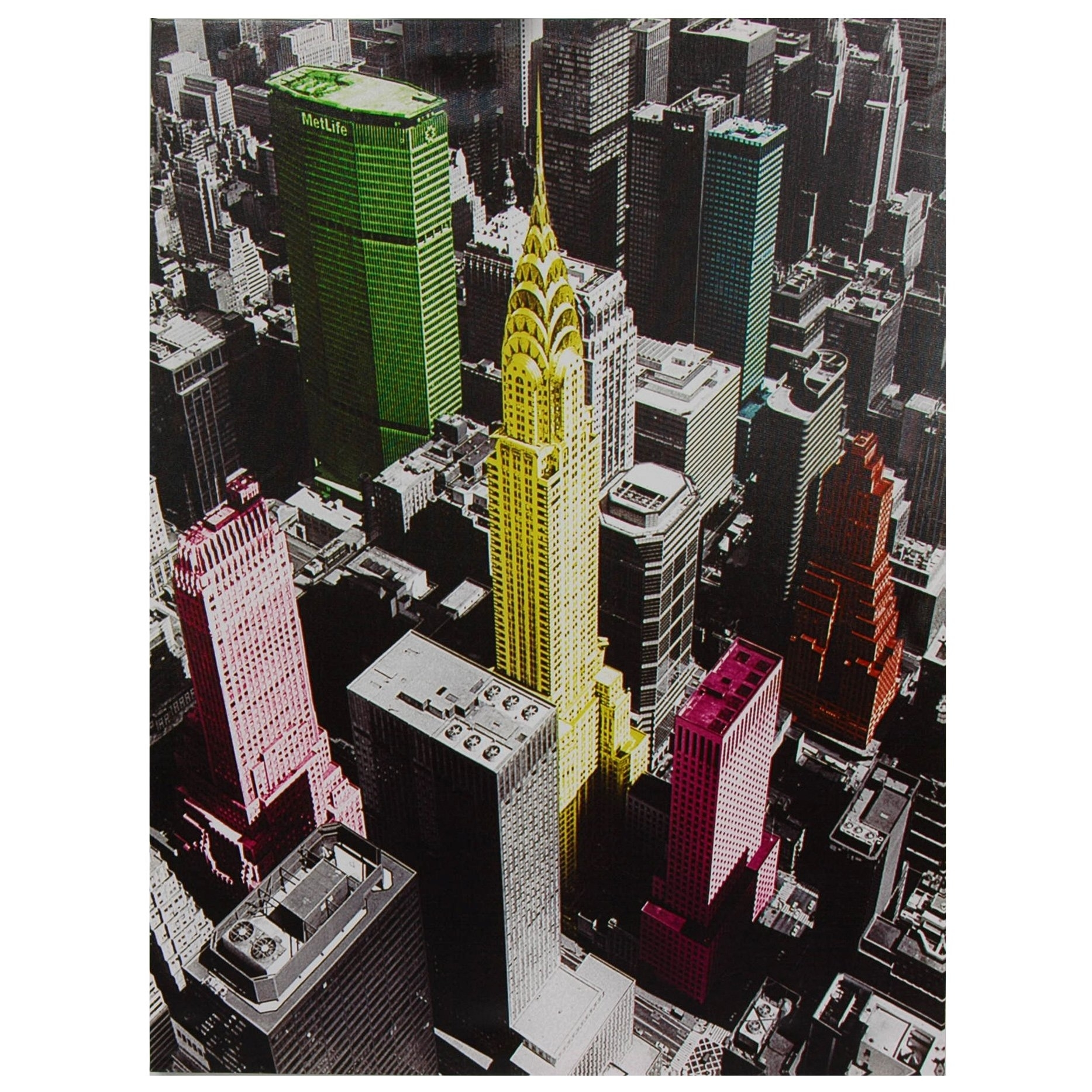 Oriental Furniture High-Lights Of New York Canvas Wall Art | Ebay throughout Most Recently Released Oriental Wall Art
