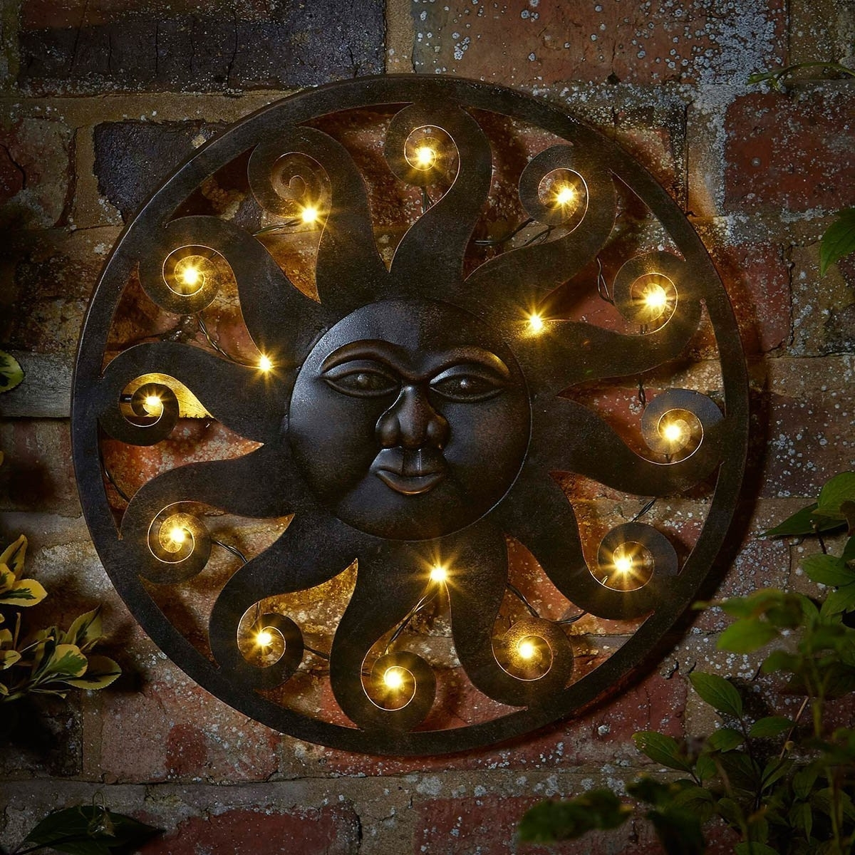 Outside Wall Decorations Elegant Outdoor Metal Sun Art Into The Regarding Most Recent