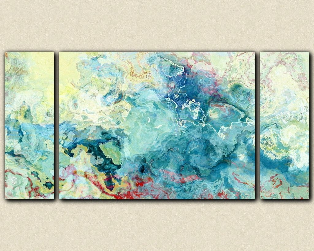 Oversized Abstract Canvas Wall Art – Blogtipsworld Throughout Most Up To Date Oversized Teal Canvas Wall Art (View 16 of 20)