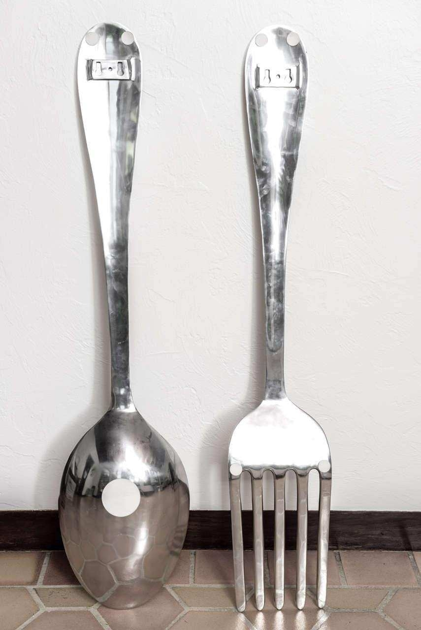 Oversized Fork And Spoon Wall Decor Best Bathroom Wall Decor Throughout Most Popular Fork And Spoon Wall Art (Gallery 18 of 20)