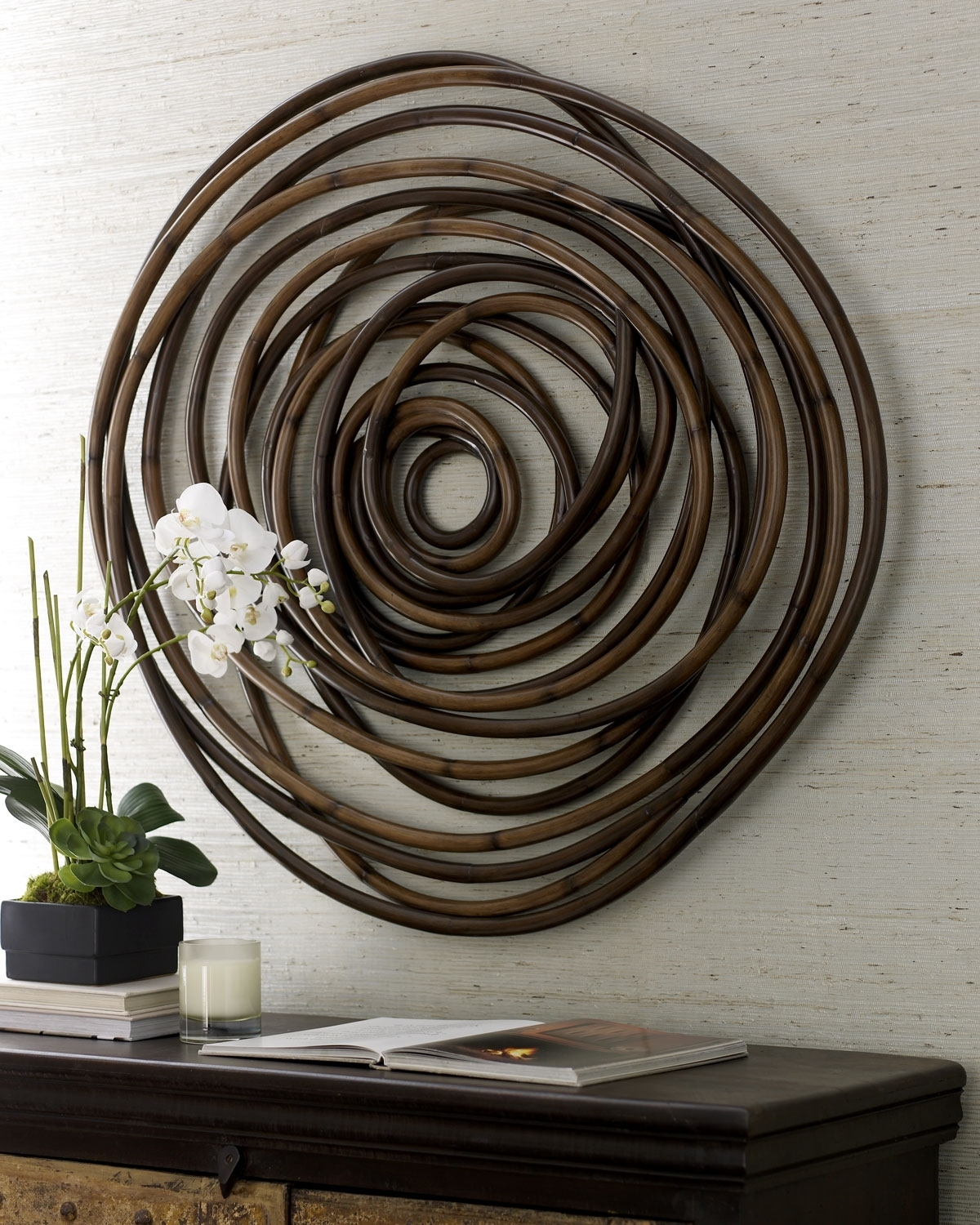 Palecek Wood Swirl Wall Decor | Neiman Marcus With Most Recently Released Circle Wall Art (Gallery 9 of 20)