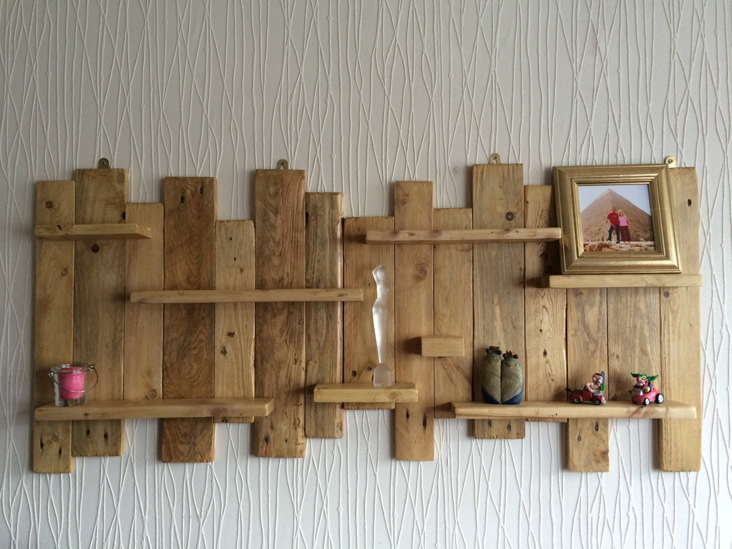 Pallet Wood Wall Art - Turbid within Most Current Pallet Wall Art
