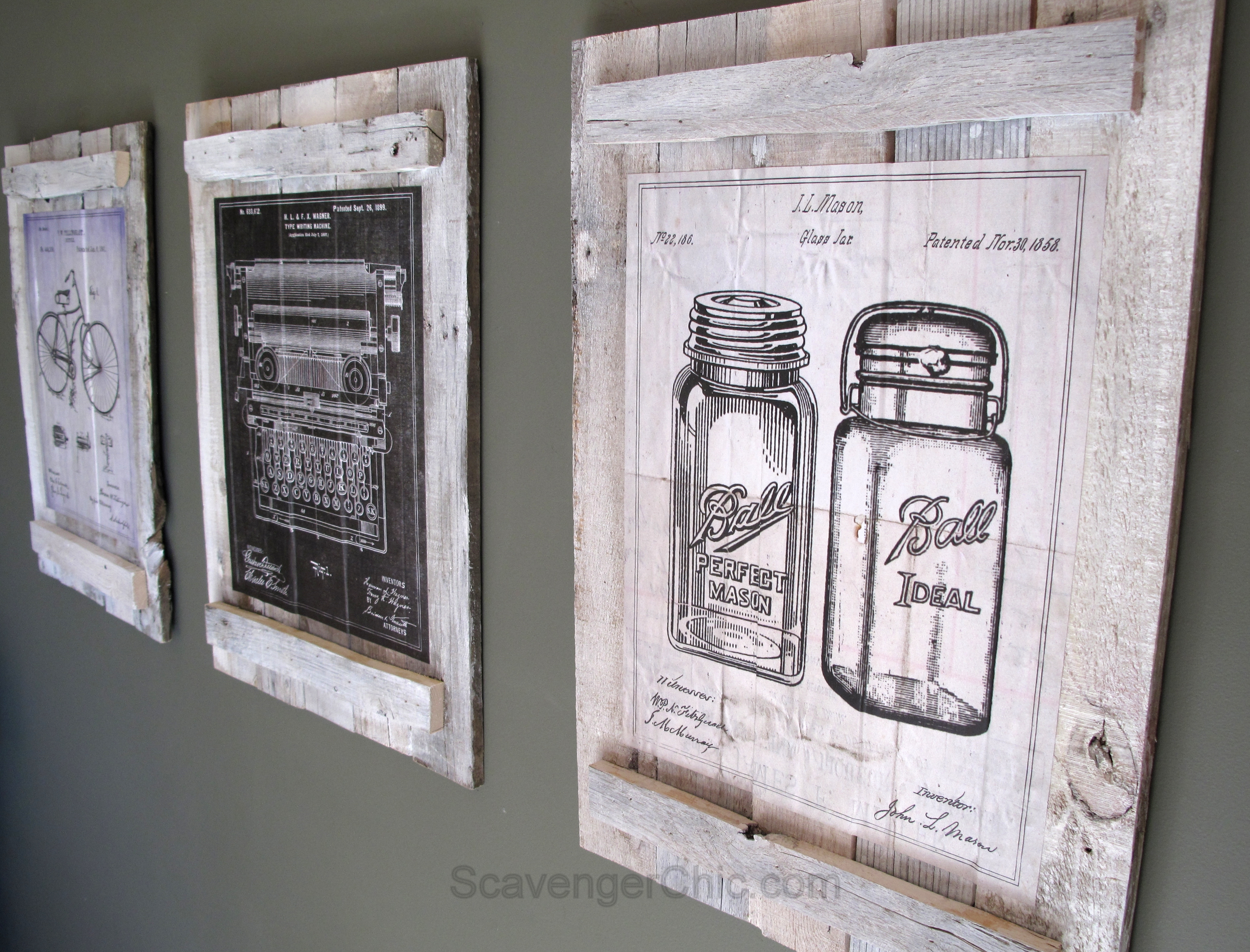 Pallets And Calendars Diy Wall Art – Scavenger Chic Inside Most Recent Vintage Wall Art (View 8 of 15)