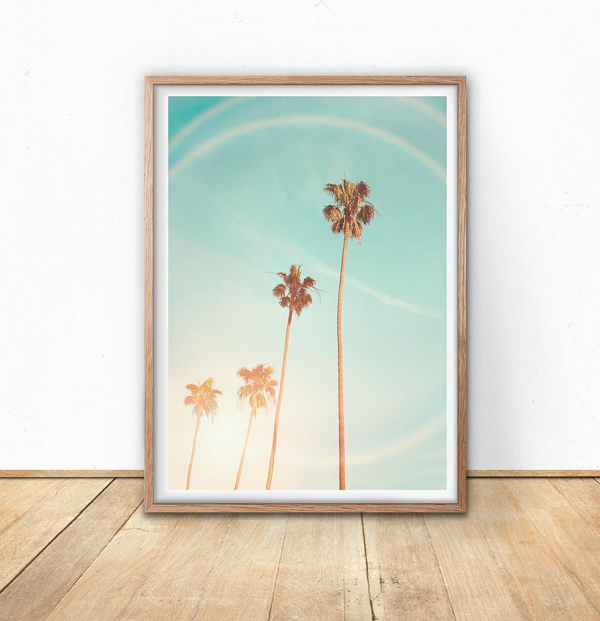 Palm Trees Print – California Wall Art, Retro Beach Print, Instant Within Best And Newest California Wall Art (View 14 of 20)