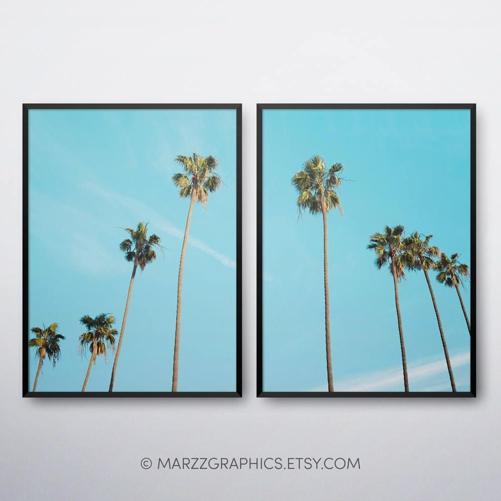 Palm Trees Printable, Palm Trees Print, Palm Trees Wall Art, Palm Intended For Recent Palm Tree Wall Art (View 17 of 20)