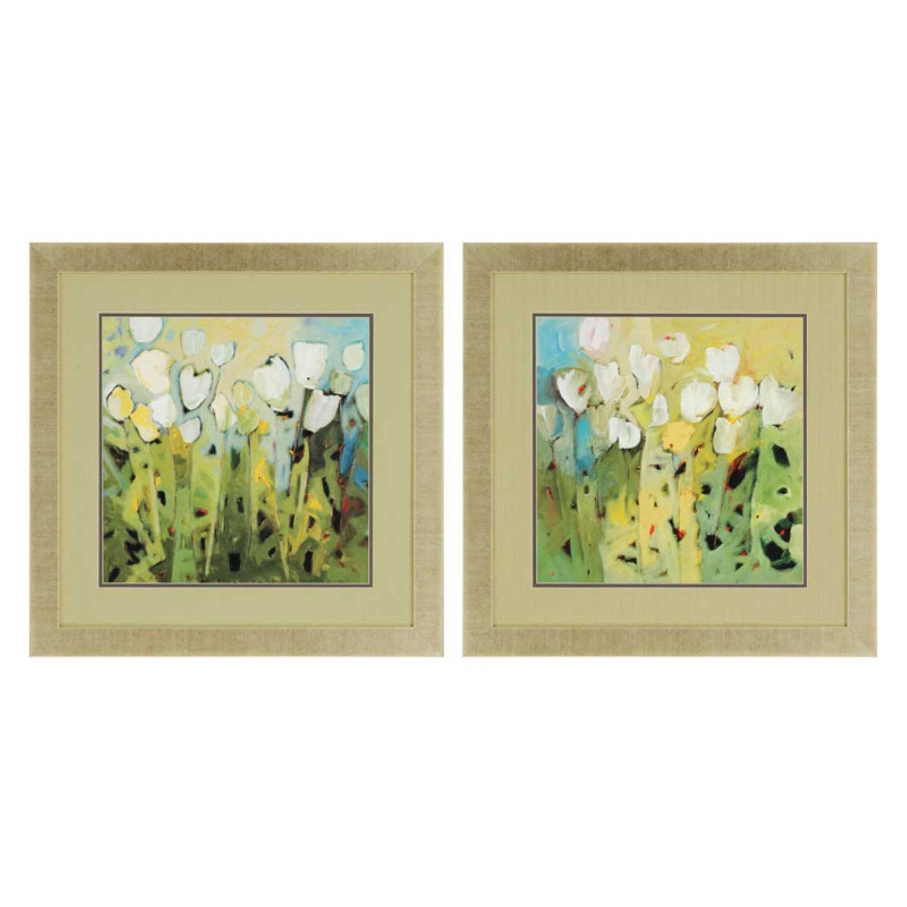 Paragon Decor White Tulips Framed Wall Art – Set Of 2 – 3350 | Wall Within 2018 Set Of 2 Framed Wall Art (View 12 of 20)